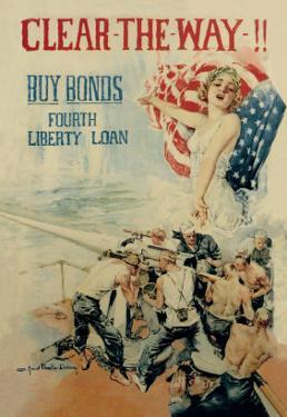 Clear the Way! Buy Bonds, Fourth Liberty Loan by Howard Chandler Christy