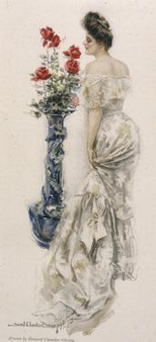 Female Type, Lacy Dress by Howard Chandler Christy