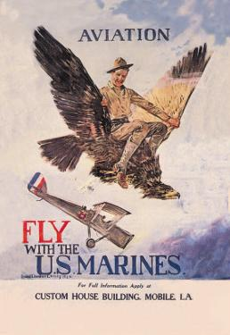 Fly with the U.S. Marines by Howard Chandler Christy