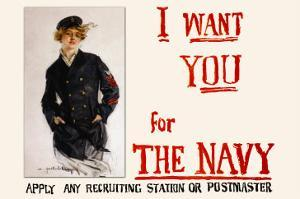 I Want You for the Navy, c.1917 by Howard Chandler Christy