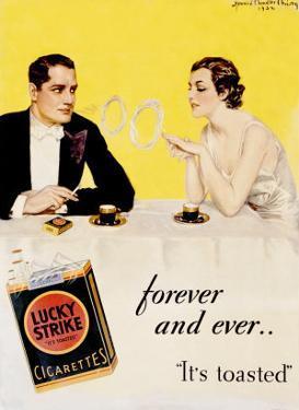 Lucky Strike Cigarette by Howard Chandler Christy