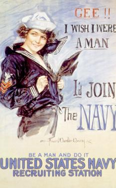 World War I American Recuiting Poster, 1917 by Howard Chandler Christy