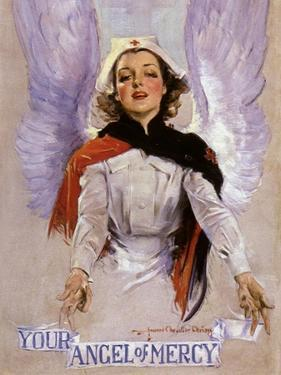 Your Angel of Mercy, c.1917 by Howard Chandler Christy