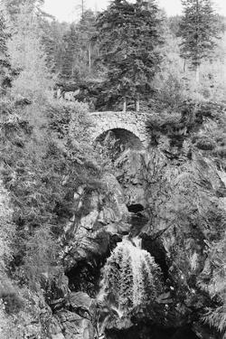 View of the Falls of Bruar in Perthshire, Scotland. Circa 1960 by Howard Jones