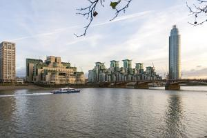 The Mi5 Building, St. George's Tower, Vauxhall Bridge and the River Thames, London, England by Howard Kingsnorth
