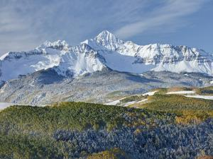 A Fresh Blanket of Snow on Mount Wilson Signifies a Change of Seasons in the Rocky Mountains. by Howard Newcomb