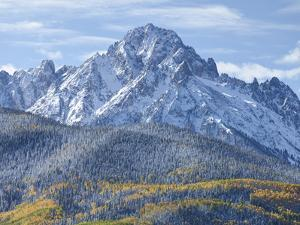 Mount Sneffels after an Early Autumn Snowfall, Near Telluride, Co by Howard Newcomb