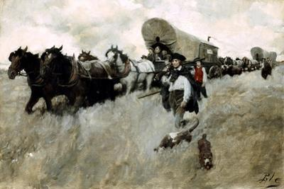 The Connecticut Settlers Entering the Western Reserve by Howard Pyle