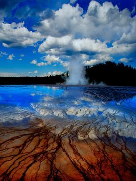 Geyser with Vapor Ring by Howard Ruby