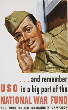 And Remember Uso Is a Big Part of the National War Fund Poster by Howard Scott
