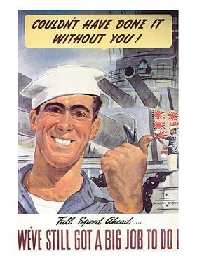 Full Speed Ahead, 1943 by Howard Scott