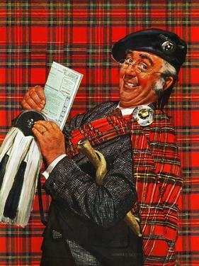 """Scotsman with Savings Bonds,"" October 9, 1943 by Howard Scott"
