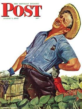 """Victory Garden,"" Saturday Evening Post Cover, August 7, 1943 by Howard Scott"
