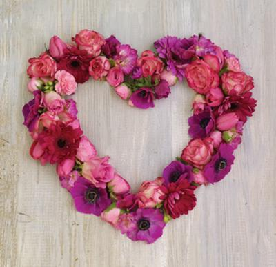 Pink Floral Heart by Howard Shooter