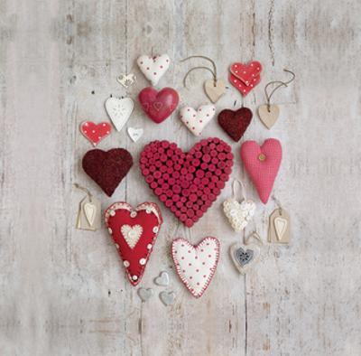 Red and White Hearts by Howard Shooter