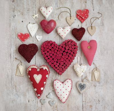 Red & White Hearts by Howard Shooter