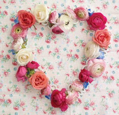 Vintage Floral Heart by Howard Shooter