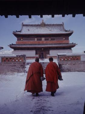 Outer Mongolia, Hidden Land Where Russia and China Square Off, Mongolian Buddhist Monastary by Howard Sochurek