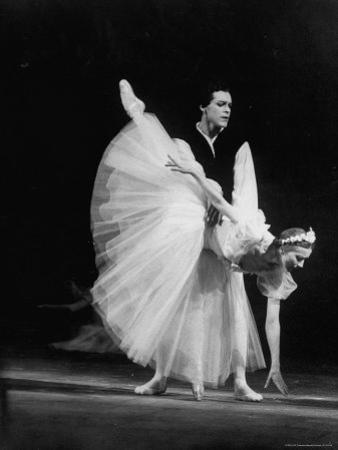 "Soviet Ballerina Galina Ulanova Performing in Ballet ""Giselle"" at the Bolshoi Theater"