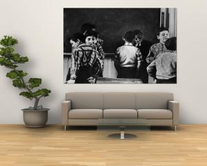 Young Boys Horsing Around in a New York City Grade School Classroom by Howard Sochurek