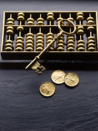 Abacus, Key and Coins