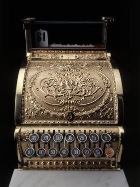 Antique Cash Register by Howard Sokol