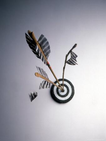 Arrows Hitting Target by Howard Sokol