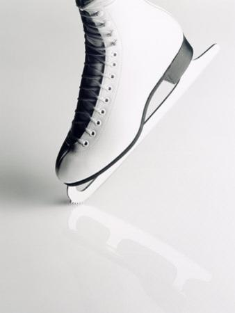 Black and White Image of Figure Skater's Skate