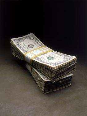 Bundles of Hundred Dollar Bills by Howard Sokol