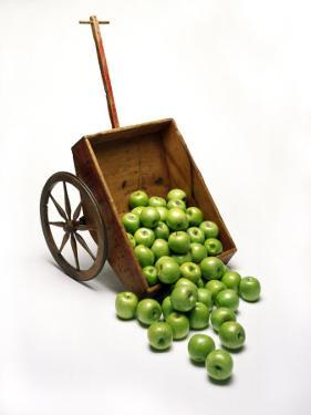 Cart with Apples Spilling Out by Howard Sokol