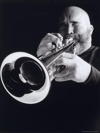 Man Blowing Trumpet