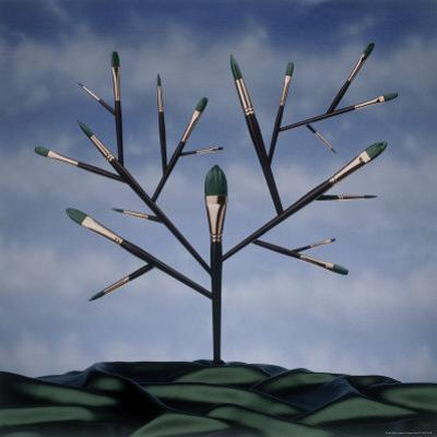 Paint Brush Art Tree