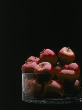 Red Apples in Glass Bowl by Howard Sokol