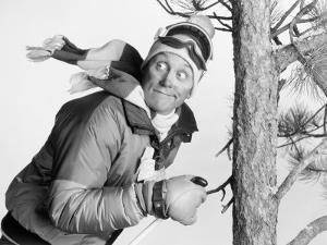 Skier Running Into Tree by Howard Sokol