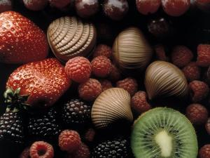Strawberries, Raspberries and Kiwis by Howard Sokol