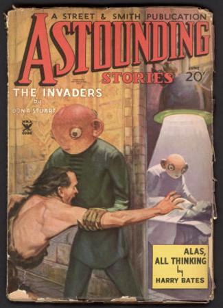 Aliens Examining an Abducted Female While Her Companion is Powerless to Prevent It by Howard V. Brown