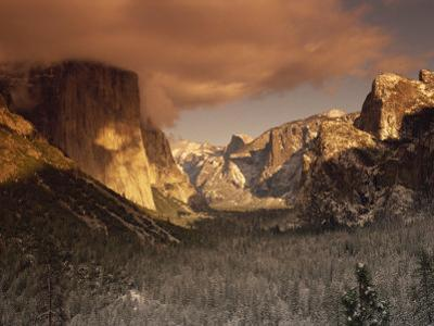 Yosemite Valley at Dusk During Winter, Yosemite National Park, California, USA by Howell Michael