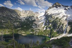 Alpine Lake and Mountain Peak, Sawtooth Nf, Idaho by Howie Garber