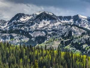 Brighton Ski Resort from Guardsman's Pass Road by Howie Garber
