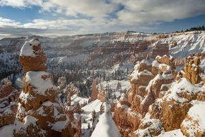 Bryce Canyon Amphitheater, Bryce Canyon NP in Snow, Utah by Howie Garber