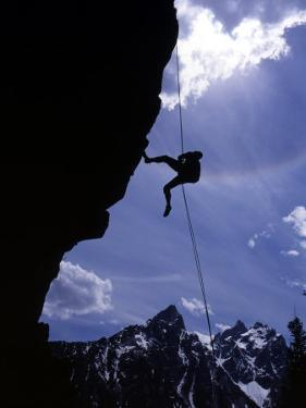 Climbing Baxter Pinnacle, Grand Teton National Park, Wyoming, USA by Howie Garber
