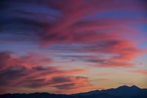 Colorful Sunset Scenic over the Oquirrh Mountains in Utah by Howie Garber