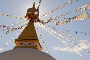 Dhodina Chorten Is Modeled on the Stupa of Boudhanath. Thimphu, Bhutan by Howie Garber