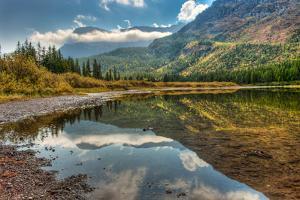 Fishercap Lake, Glacier NP, Near Kalispell and Many Glacier, Montana by Howie Garber