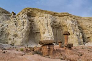 Hoodoo sandstone landscape, Grand Staircase-Escalante, Utah by Howie Garber