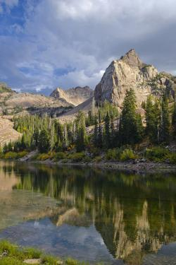Lake Blanche and Sundial with Reflection, Utah by Howie Garber