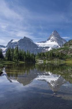 Mount Assiniboine Reflected in Sunburst Lake by Howie Garber