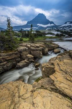 Snowmelt Stream in Glacier National Park, Montana by Howie Garber