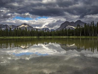 Spray Valley lake reflection, Alberta, Calgary, Canada, Canmore, Kananaskis by Howie Garber