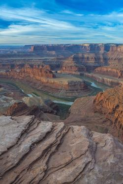 Sunrise at Dead Horse Point SP, Colorado River, and Canyonlands NP by Howie Garber